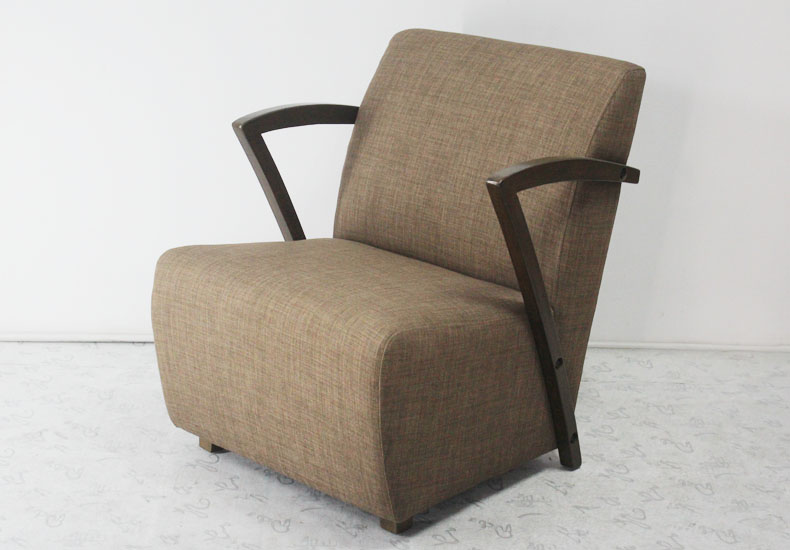 Solid Wood with Fabric Soft Sofa Salon Chair