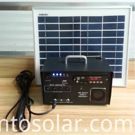 10w solar FM lighting kit