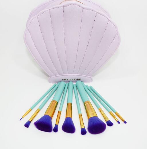 10PCS New Design Custom Makeup Brushes with Flower Shape Bag