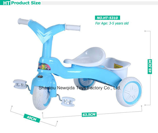 New Model Colorful Ride on Bike Baby Tricycle for Kids