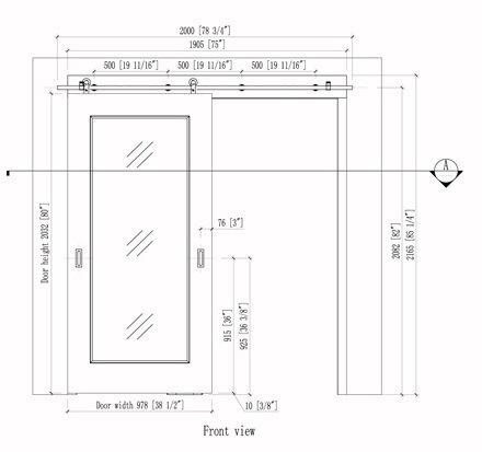 Interior Sliding Barn Door with Metal Strips
