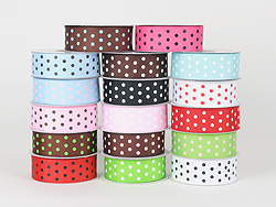 DOT Print Grosgrain Ribbon