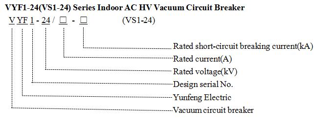 24kv for Indoor Use Vacuum Circuit Breaker Vyf1-24