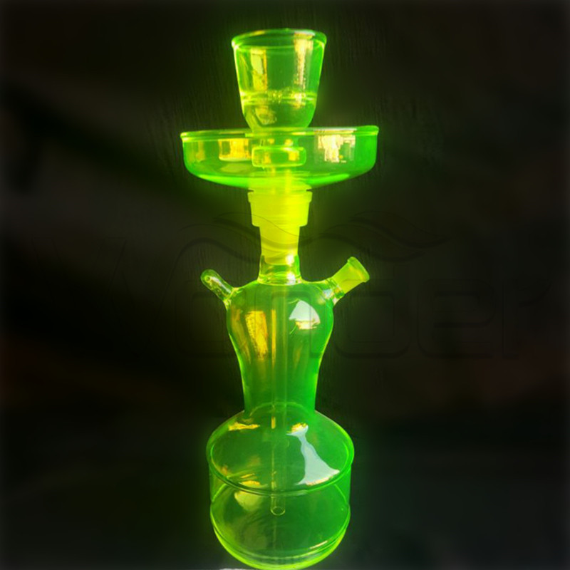 Large Hookahs for Sale with Green Color and ISO Certificate