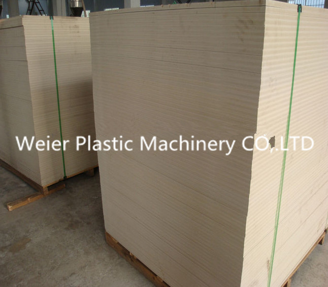 PVC Crust Foam Board Machine WPC Construction Template Production Line
