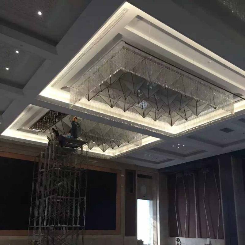 Modern Design Crystal Chandelier for Hotel Project