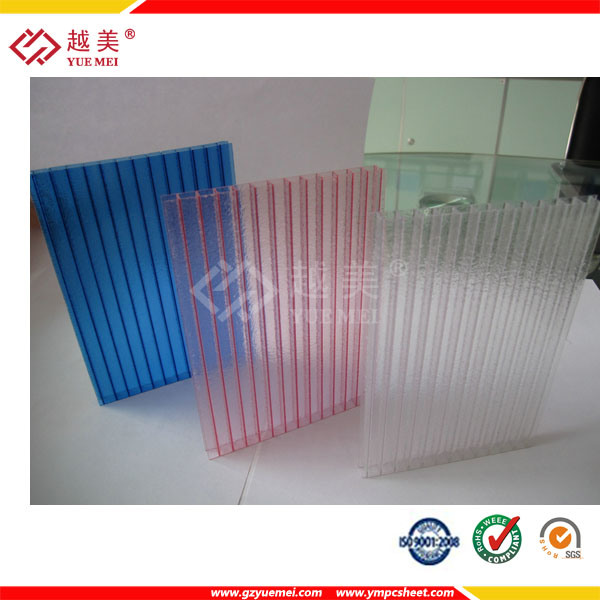 Yuemei Hollow Polycarbonate Sheet for Bus Station Roofing Material