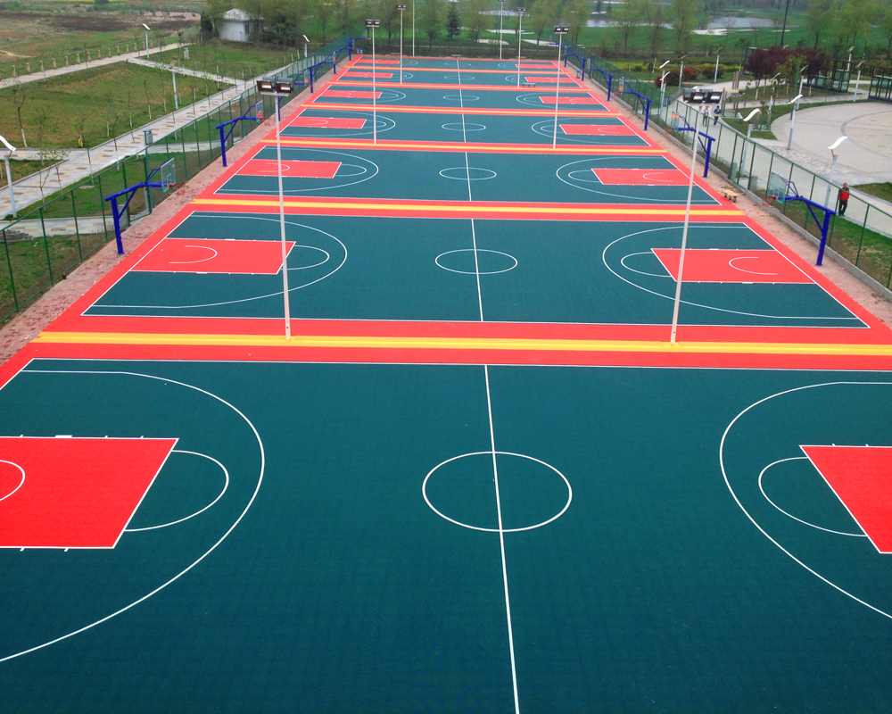 outdoor interlocking sports flooring