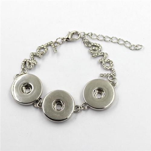 Hot Sale Snap Button Bangle, Colorful Button Bracelet