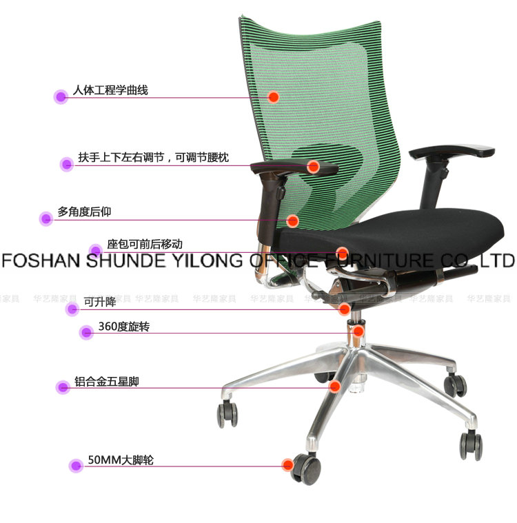Hyl-1016 Swivel Office Chair Color Optional Full Mesh Office Chair