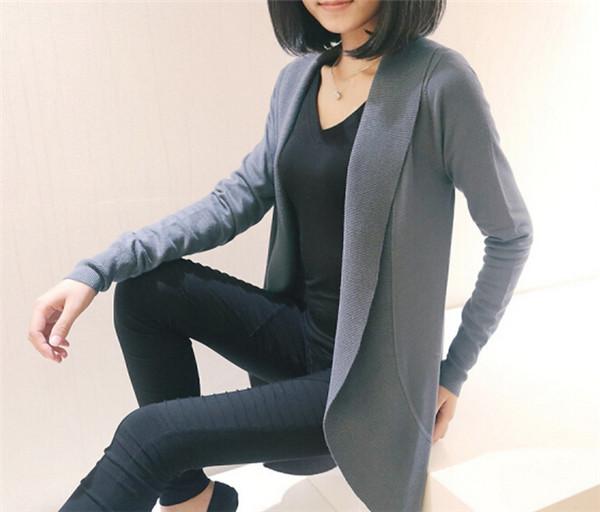 Hot Sale Fashion High Quality Ladies Knitwear Long Casual Slim Fitting Knitting Women's Cardigan