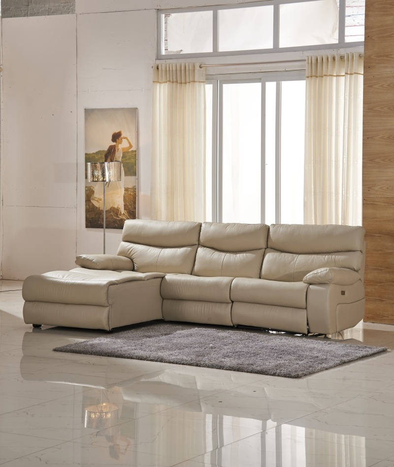 Function Leather Sofa with Storage