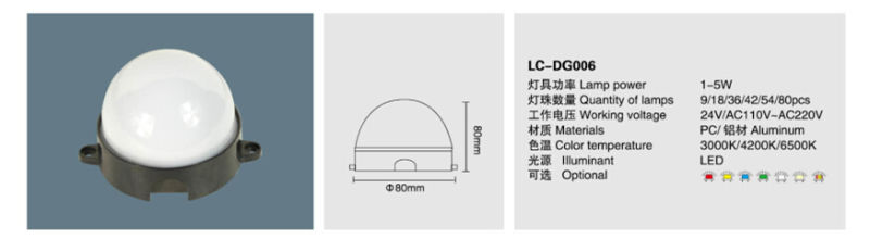 1W-5W Waterproof IP65 LED Point Source LED Light