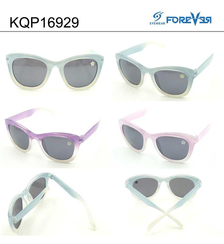 Kqp16929 Plastic Frame Kids Sunglasses Meet Ce UV400