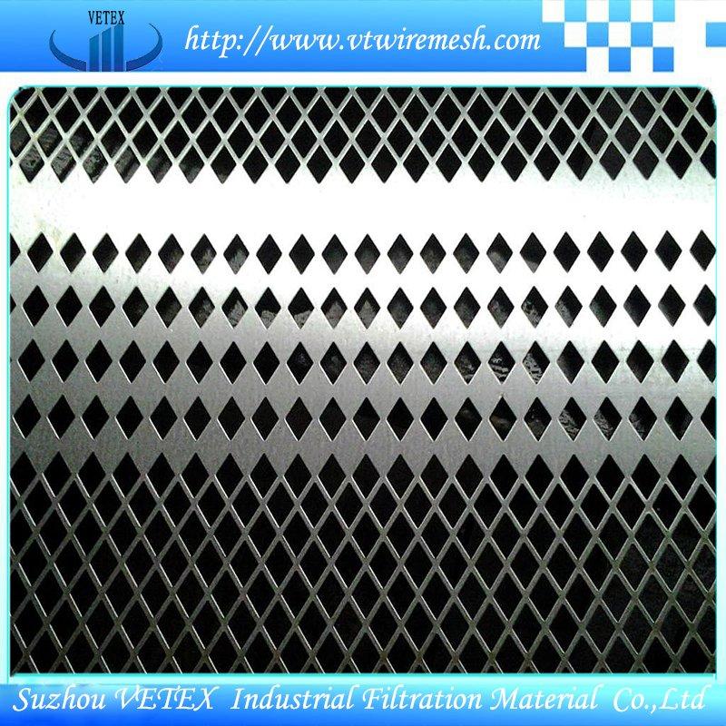 Diamond or Rhombus Perforated Sheet Metal