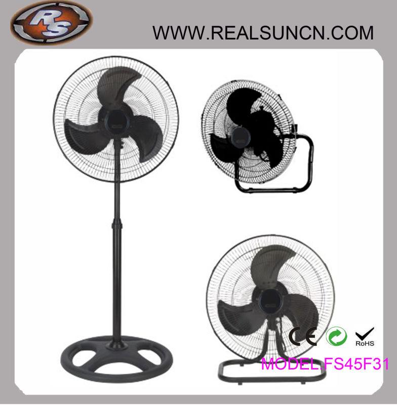 2 in 1 Industrial Fan Full White Color or Full Black Color
