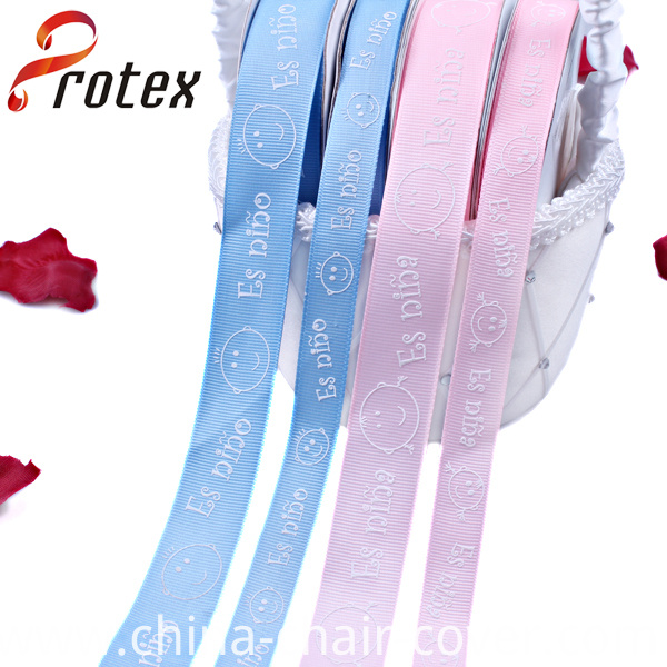 Puffy Printed Ribbon in Color Pink and Blue