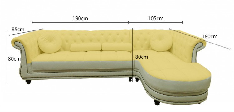 Simple European-Style Genuine Leather Corner Sofa