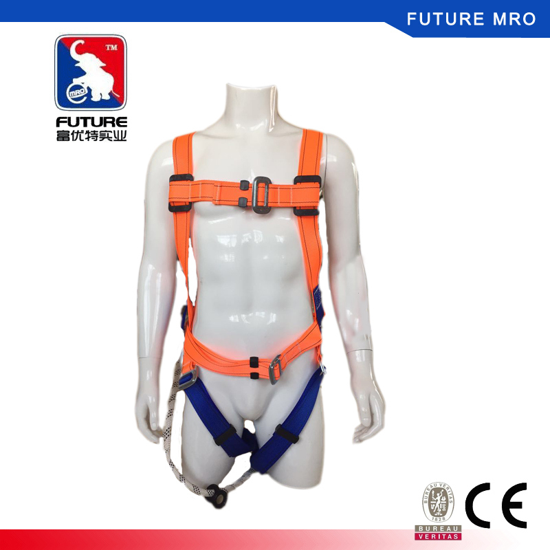 Falling Protection Safety Harness Belt Four Points with Single Hook Lanyard