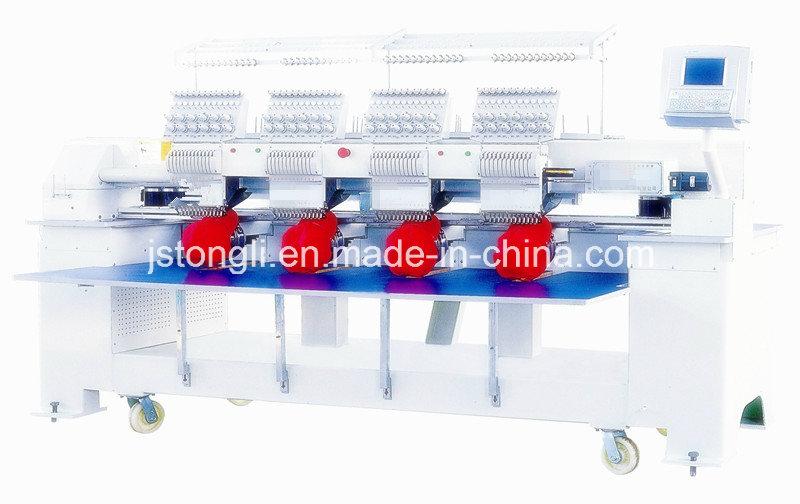 12 Needles 4 Head Tubular Cap Embroidery Machine