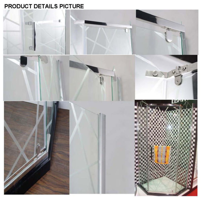 Simple Frameless Hinge Shower Enclosure (AS-940N)