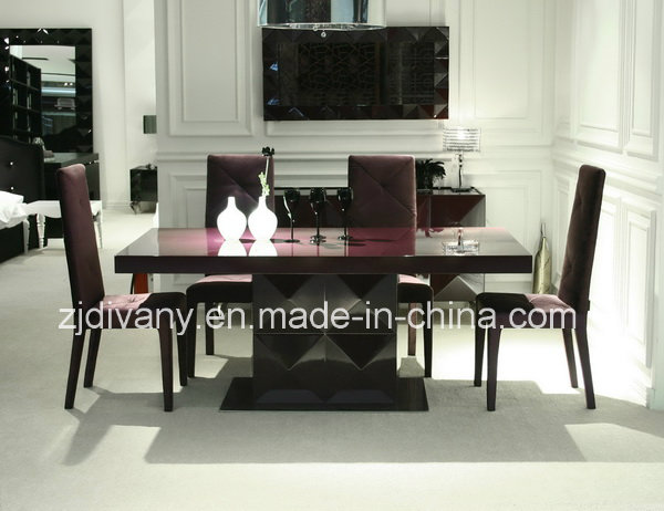 Modern High Glossy Painting Wood Dining Table (LS-201A)