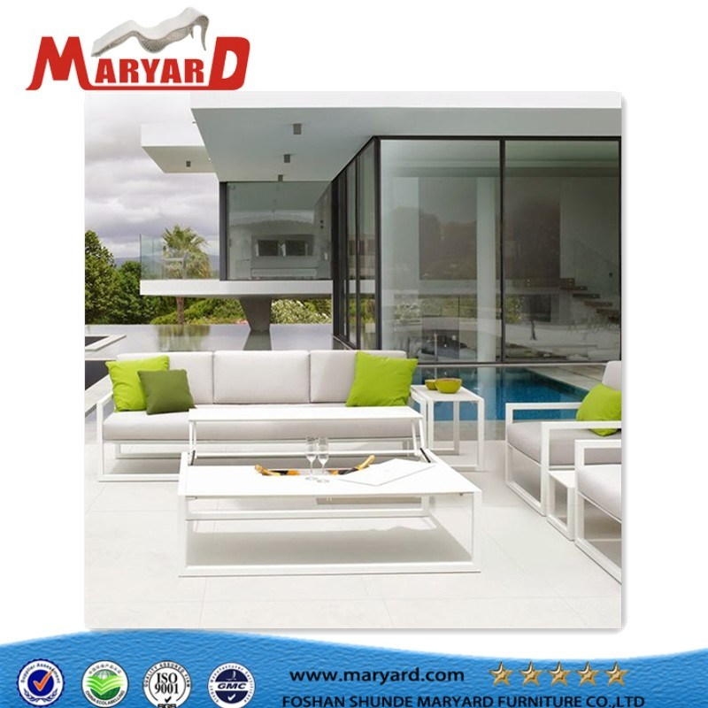 High Quality Outdoor Comfortable Fabric Upholstered Aluminum Sofa Chair Sectional Furniture