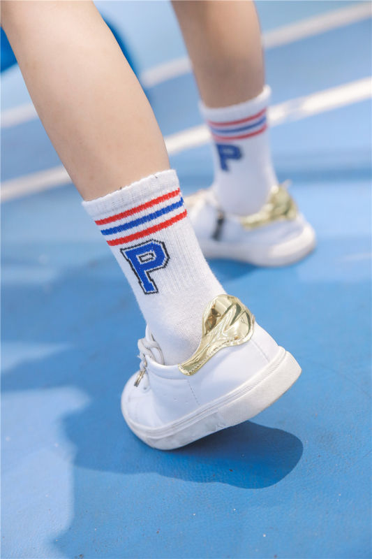 Little Girl Cute Cotton Socks Letter Socks with Lovely Cute Letters in The Cuff Fashion Look Socks
