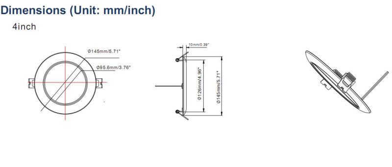 China Super Slim Edge-Lit Emitting IP64 LED Waterproof Lights for Bathroom with Ce RoHS