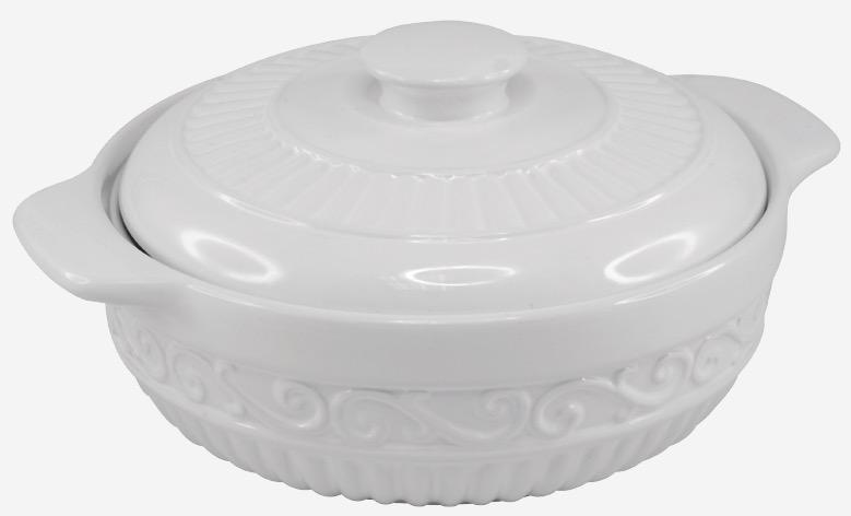 Ceramic White Casserole