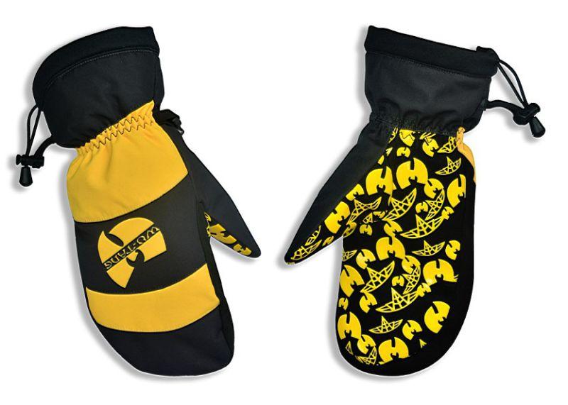 New Design Warm Keeping Knit Cuff Women Ski Gloves