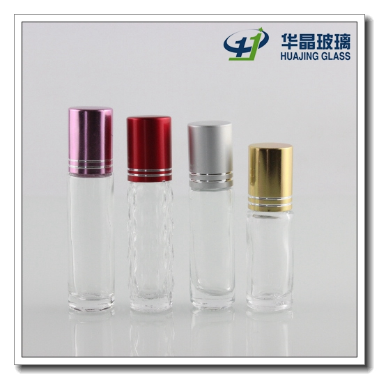 10ml Clear Empty Perfume Glass Roll on Bottle with Cap