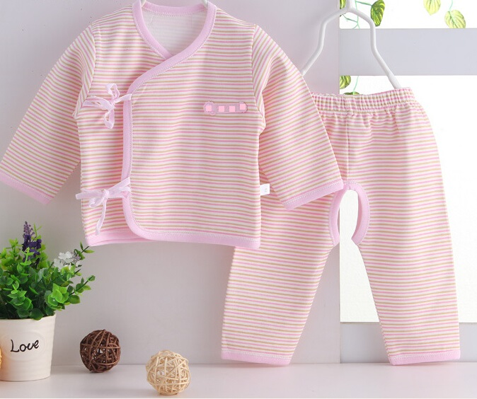 Combed Cotton Striped Newborn Baby Clothes