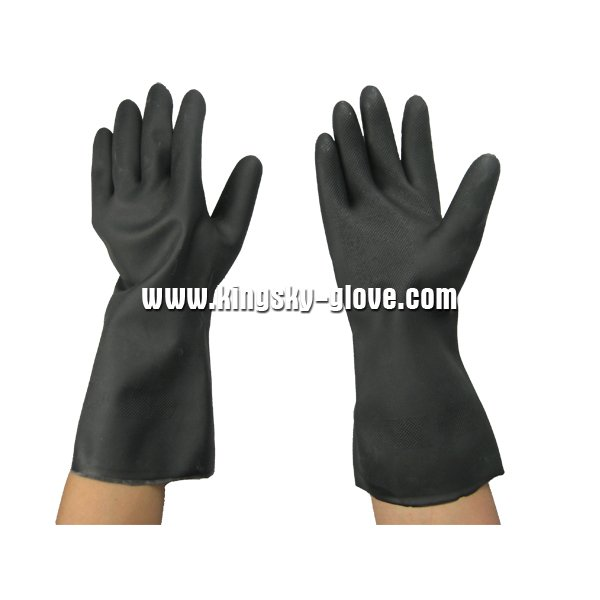 Unsupported Flock Lined Neoprene Industrial Glove-5640