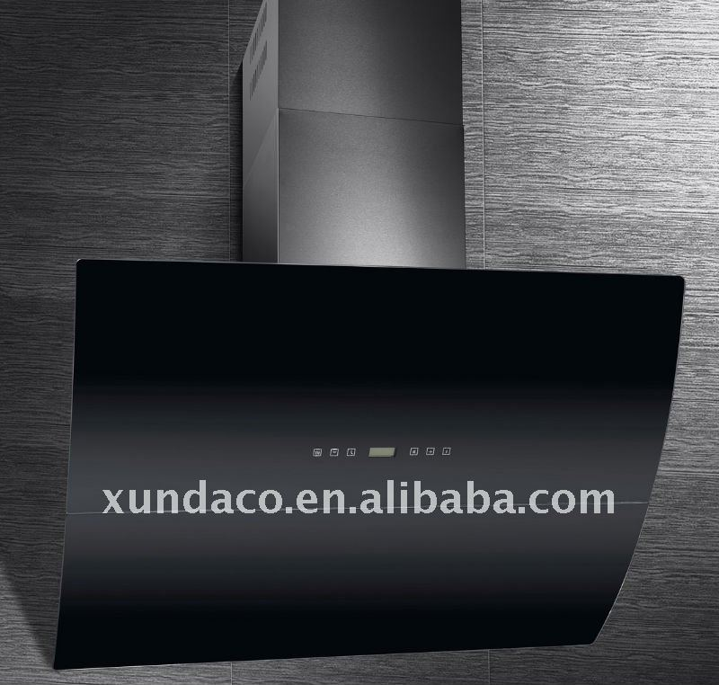Auto Swift Black Glass Range Hood