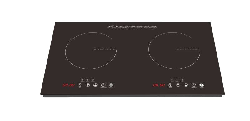ETL cETL 120V/60Hz/1800W Countertop 2 burners Induction Cooktop to USA Canada Model SM-DIC08A