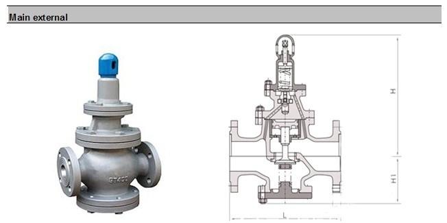 High Temperature Stainless Steel Steam Pressure Reducing Valve