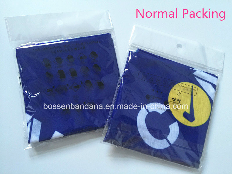 OEM Produce China Supplier Logo Printed Promotional Blue Multifunctional Headwear Scarf
