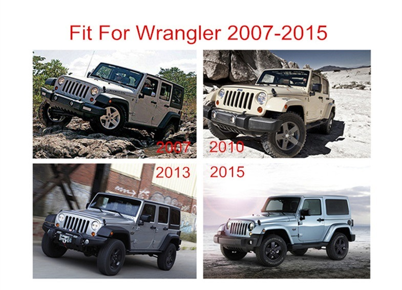 Alloy Roof Racks Luggage Carrier for Jeep Wrangler (JK) 2007-2017