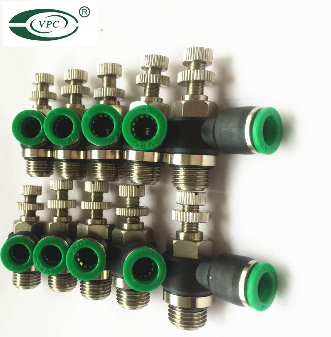 Speed Controller BSPP Bsp NPT Thread Pneumatic Fittings