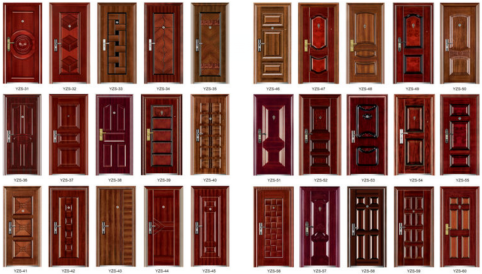 Modern Design Steel Security Doors Made in China