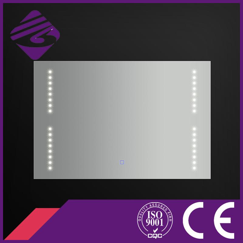 Jnh177 Rectangle Glass LED DOT Bath Mirror for Hotel/Home