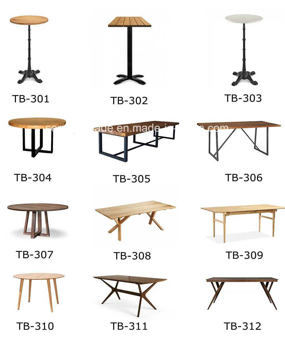 Wholesale Rectangle Wooden Table Modern Style Coffee Dining Table for Restaurant and Cafe