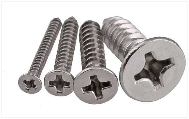 Stainless Steel Flat Head Cross Recesed Self Tapping Screw