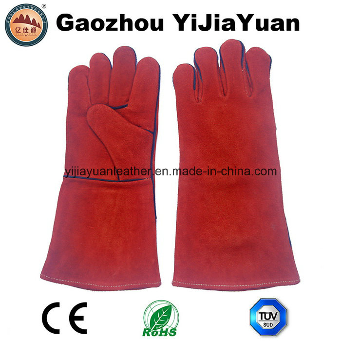 Long Leather Welding Gloves with Kevlar Stitching for Welders