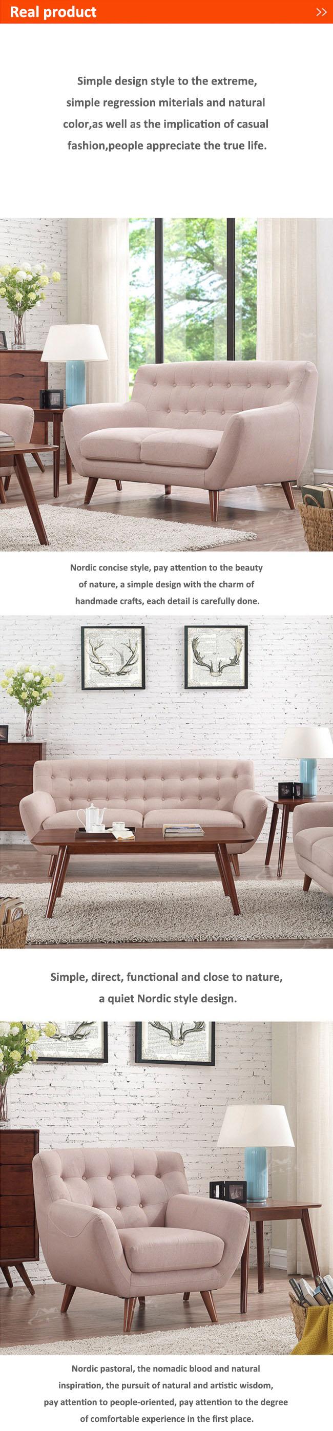 European Leisure Simple Living Room Sofa Fabric Sofa