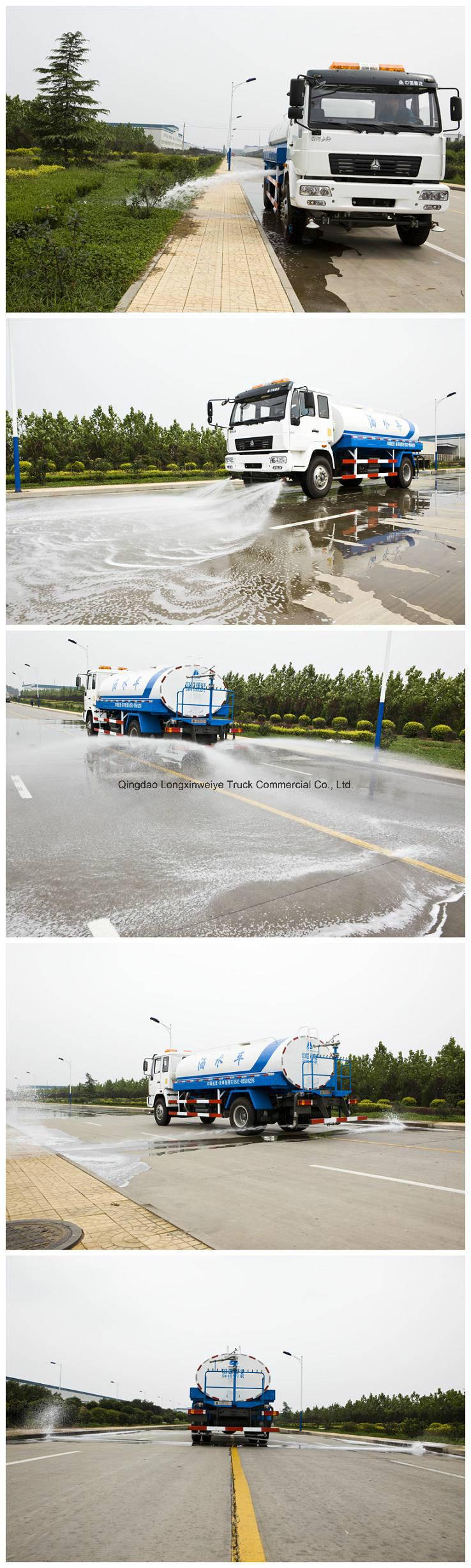 Sinotruk HOWO 4X2 10cbm Heavy Sprinkler Water Tanker Truck
