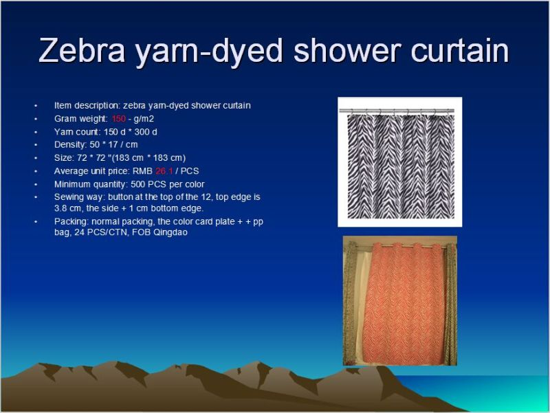Shower Curtain Yarn-Dyed St1806