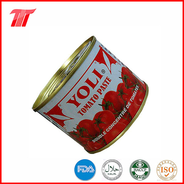 Organic Healthy 210g Canned Tomato Paste with Yoli Brand