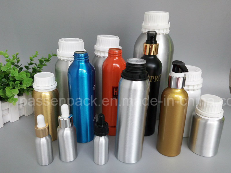 Aluminum Dropper Bottle for Comsetic Essence Liquid Packaging (PPC-AEOB-013)